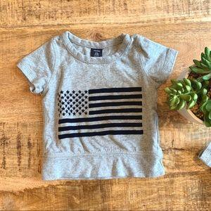 BABY GAP Toddler American Flag Sweat Shirt